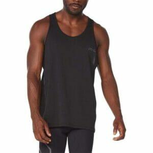 Fitness Mania - 2Xu Light Speed Tech Singlet Mens Black Black Reflective