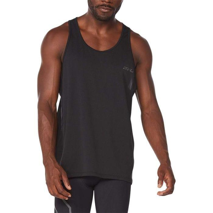 Fitness Mania – 2Xu Light Speed Tech Singlet Mens Black Black Reflective