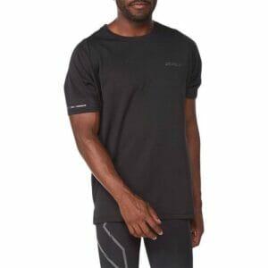Fitness Mania - 2Xu Light Speed Tech Tee Mens Black Black Reflective