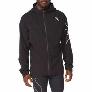 Fitness Mania - 2Xu Light Speed Waterproof Jacket Mens Black Silver Reflective