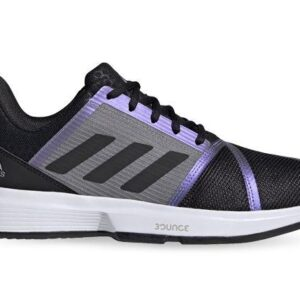 Fitness Mania - Adidas Courtjam Bounce Mens Core Black Grey Two