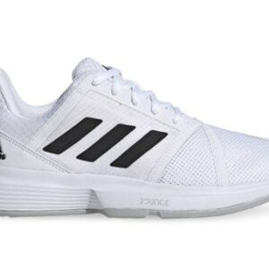 Fitness Mania - Adidas Courtjam Bounce Womens Cloud White Core Black Matte Silver