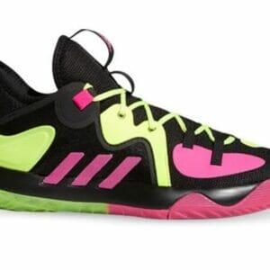Fitness Mania - Adidas Harden Stepback 2 Mens Core Black Shock Pink Team Solar Yellow