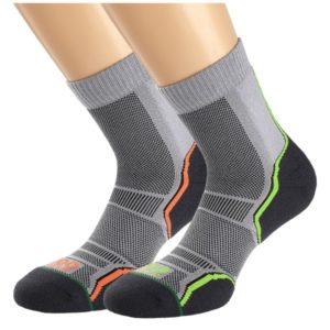 Fitness Mania - 1000 Mile Trail 21 Mens Sports Socks - Twin Pack