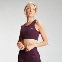 Fitness Mania – MP Women's Sculpt Laser Cut Sports Bra – Port  – M