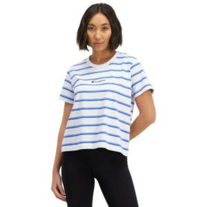 Fitness Mania - Champion Script Stripe Womens T-Shirt