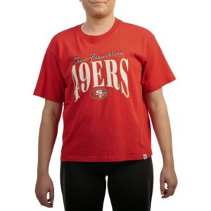 Fitness Mania - Majestic San Francisco 49ers Vintage Arch Boxy NFL Womens T-Shirt
